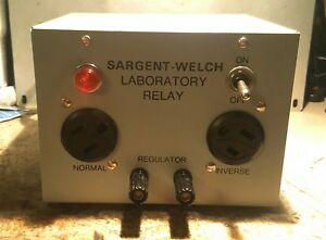 Sargent welch Scientific Company S8199005 Laboratory Relay