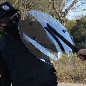 Transparent Pc Hand held Shield Police Swat Riot Shield For Security Protection
