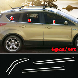 Fit For Ford Escape Kuga 13 17 Chrome Bottom Window Sill Trim Cover Molding Line