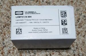 Hubbell Lhmts1 n wh Circuit Wall Motion Sensor Switch