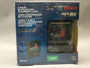 Bosch 5 point Self leveling Alignment Laser Level 100ft 30m model Gpl 5 S new