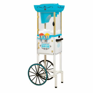 Snow Cone Stand Party Maker Kit Cart Electric Machine Shaved Ice Nostalgia Best