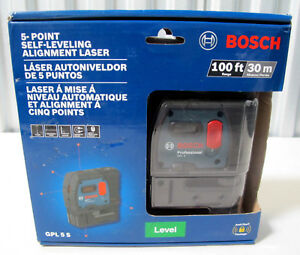 Bosch Gpl 5s 5 point Self leveling Alignment Laser