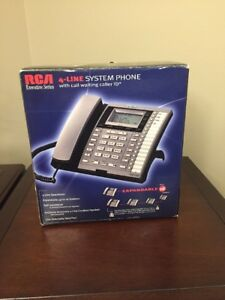 Rca Executive Series 4 line System Phone Speakerphone Call Waiting 25414re3