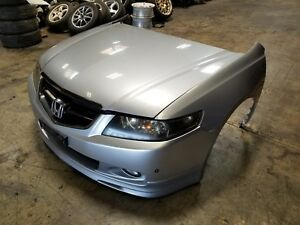 2004 2007 Acura Tsx Jdm Front End Conversion Nose Cut Cl7 Honda Accord Silver 4d