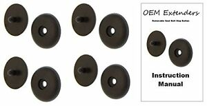 Set Of 4 Black Seat Belt Buckle Retainer Seatbelt Stop Button W Instructions