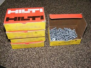 Qty 100 Hilti Power Actuated Drive Pin Ew6 20 12s12 21572 3 Lot Of 5 Box 100 Ea