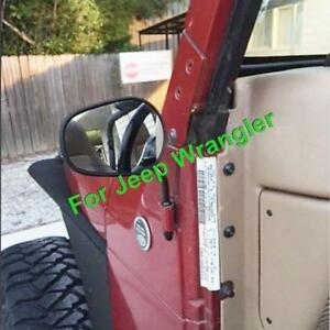 Driver Front Side Door Hinge View Mirrors Black Pair For 1987 2018 Jeep Wrangler