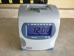 Pyramid Model 2600 Electronic 6 Column Time Recorder Time Clock With Key