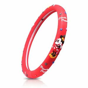 Finex Silicone Minnie Mouse Auto Steering Wheel Cover Accessories Red Universal