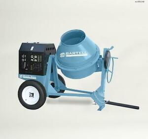 Bartell Global 9 5 Cu Ft Steel Drum Concrete And Mortar Mixer Mc95h240bartellgl