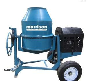 Bartell Global 12 Cu Ft Steel Drum Concrete And Mortar Mixer
