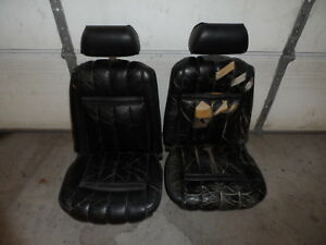 1969 1970 69 70 Ford Mustang Mercury Cougar Xr 7 Front Bucket Seats Black Pair