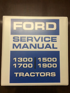 Ford 1300 1500 1700 1900 Tractors Service Manual Repair Manual Overhaul Manual
