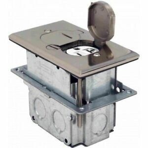 Flb d ss Floor Flip type With Duplex Receptacle Cover Adjustable Box