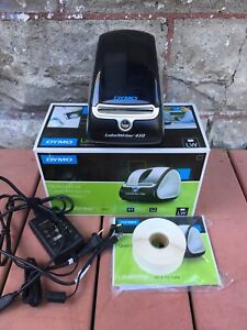 Dymo Labelwriter 450 Printer W Roll Of Labels Power Cord Usb Cable Software