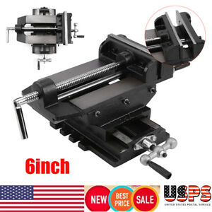 6 Cross Drill Press X y Clamp Machine Vise Metal Milling Slide 2 Way Hd