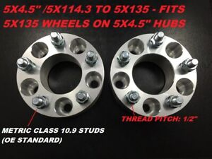 2 2 Wheel Adapters Spacers 5x114 3 5x4 5 To 5x135 73 1mm Hub 1 2 Studs