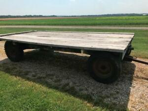 Hay Wagon 14 X 7 5 With Running Gears Hay Straw Wagon Flatbed