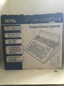 Royal Scriptor Ii Portable Electronic Typewriter New Open Box