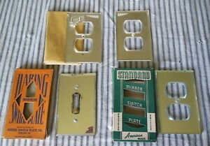 Lot Of 4 Vintage Mercury Glass Switch Outlet Cover Original Box