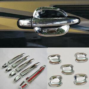 For Toyota Land Cruiser Prado Fj120 2003 2009 15x Chrome Door Handle Bowl Cover