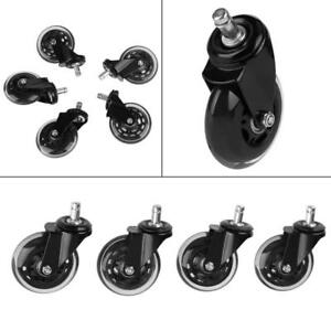 5x Replace 3 Swivel Caster Wheels For Office Furniture Computer Chair Desk New