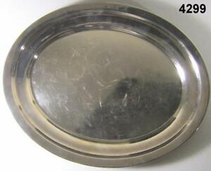 Sterling Silver Platter 23 3 Oz 14 X 11 Inches Whiting Manufac Init Akr 4299
