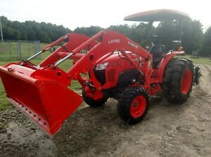 2017 Kubota L4701 Hydrostat Tractor With Front Loader And Backhoe