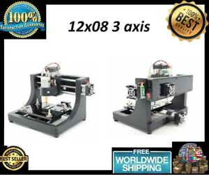 Cnc 1208 Super Mini Hobby Machine 3 Axis Pcb Milling Machine Wood Route Jedi