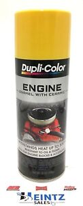 Duplicolor De1642 Engine Enamel Paint W Ceramic Daytona Yellow Color 12 Oz