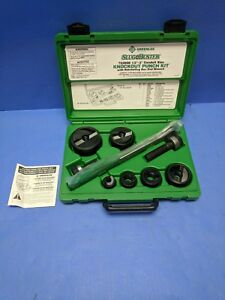 Brand New Greenlee 7238sb Slug buster Knockout Kit With Ratchet Wrench