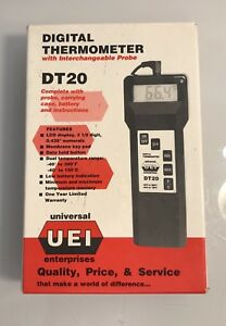 Uei Dt20 Pocket Size Digital Thermometer Probe With Carrying Case