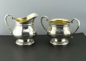 International Prelude Sterling Silver Cream And Sugar Set C147