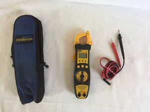 Ideal 61 702 Digital Clamp Multimeter Electrical Test Meter W Case Instructions