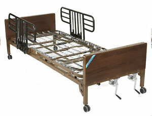 Multi Height Manual Hospital Bed With Half Rails