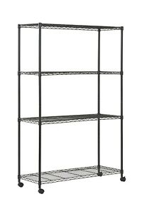 Shed Shelving Unit Shelves For Garage Storage Tower Commercial Metal Heavy Duty