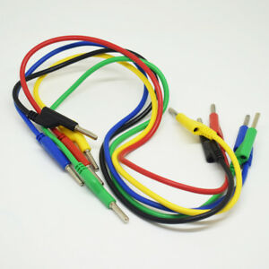 10sets 5 Colors 50cm Silicone High Voltage Dual 4mm Banana Plug Test Leads Cable