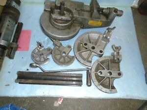 Parker Model 420 Tubing Bender With Dies Follow Bar And Handle