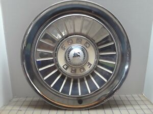 1957 Ford Hubcap 2 Push On Style Single 14 Inch