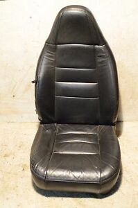 Oem Jeep Wrangler Passenger Tj Leather Seat Rh 97 02 Dark Gray Agate 02b
