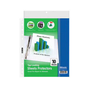 Bazic Top Loading Sheet Protectors 10 pack Case Of 288