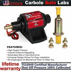 Universal Micro Electric Fuel Gasoline Pump 2 3 5 Psi Low Pressure 42 Gph 12v Us