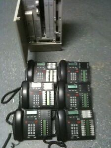 Nortel Norstar Mics Telephone Complete System With 6 Digital Phones Free Ship