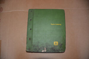 John Deere 55 Combine Tractor Parts Catalog In Binder Serial 55 57 000 Pc 337