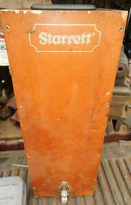 Older Starrett Master Height Gage Gauge Standard Wooden Case Machinist Tool