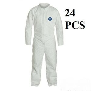 Lot Of 24 Dupont Ty120s White Tyvek Disposable Coverall Bunny Suit Size 2xl