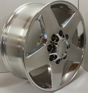 Polished Aluminum 20 8 Lug Wheels Rims 2011 2019 Gmc Sierra Denali 2500 3500 Hd