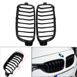 For Bmw 3 Series F30 F31 4 door 2012 2016 Kidney Grill Grille Shiny Black