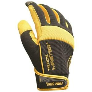 5 pack Large Trade Master Mesh net Fabric And Leather Work Gloves